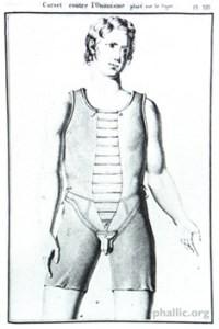 Corsé antimasturbación. Francia (1815).