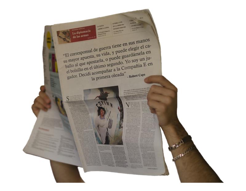 Periódico cita Capa- Fran Antón-Web