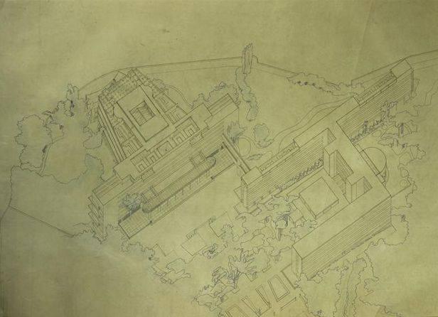 Planos del proyecto para el Palacio de las naciones de Le Corbusier