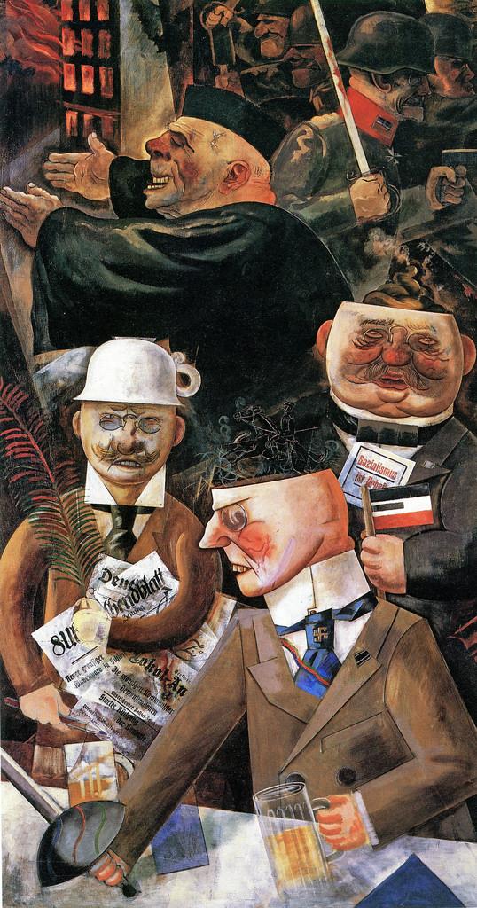 Pilares de la sociedad, George Grosz