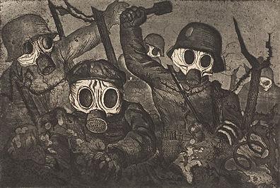 Tropas de asalto avanzando bajo el gas, Otto Dix